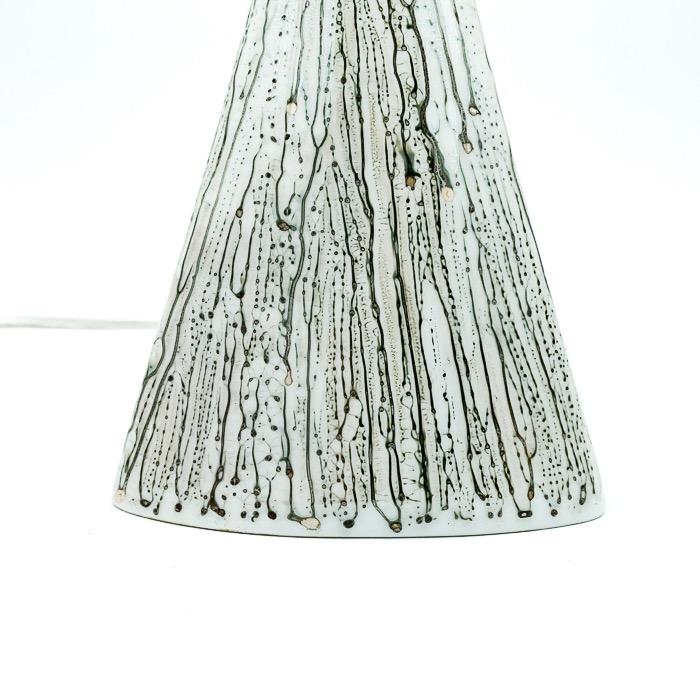 Handmålad porslinslampa, Kaiser, 1978
