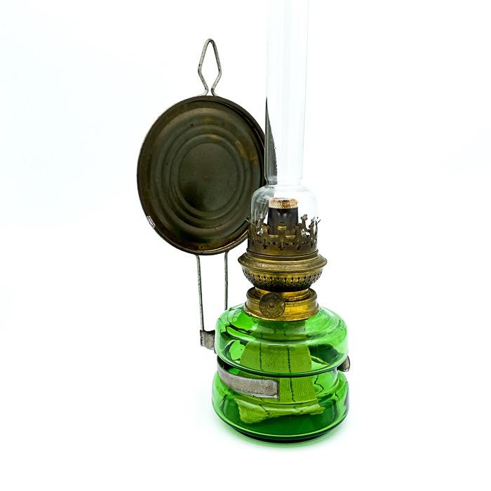 Fotogenlampa, glas/mässing - Kosmos Brenner