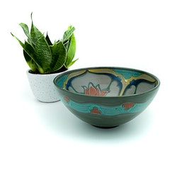 Keramikskål i gröna toner - Gouda, Holland