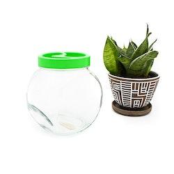 Äldre godisburk i glas/ plast - Frankrike