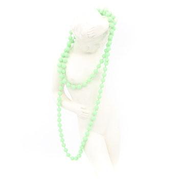 Retro halsband med plastpärlor mintgrönt