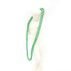 Retro halsband med plastpärlor grönt