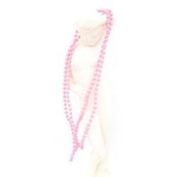 Retro halsband med plastpärlor rosa