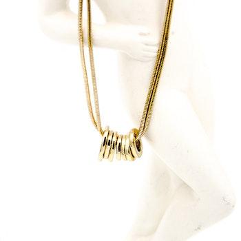 Retro guldfärgat halsband