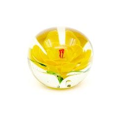 Brevpress med gul blomma