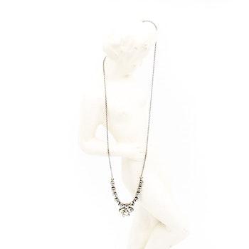 Retro halsband med glasstenar
