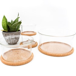Glasskål med kork-underlägg - Signe Persson Melin, Boda Nova