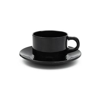 Svarta kaffekoppar - Arcoroc, Frankrike