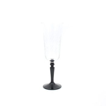 Champagneglas  - svart fot, Luminarc, Frankrike