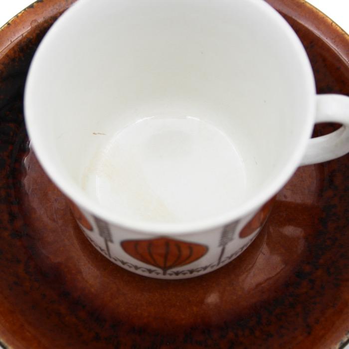 Kaffekopp med fat - Groblad, Barbro Löfgren Örtedal, Gefle