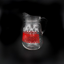 Retro saftservis - En karaff och 5 glas