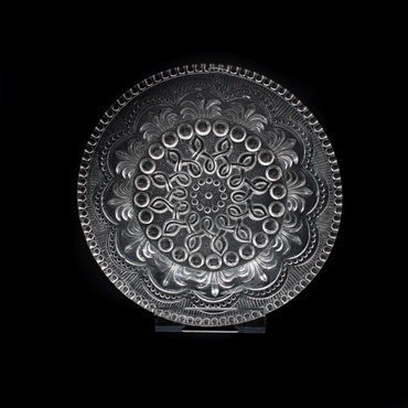 Glasassiett, 18cm i diameter