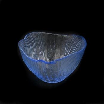 Glasskål med relief