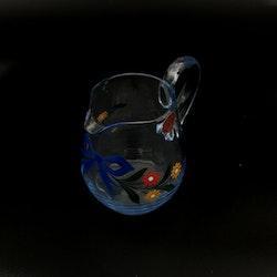 Karaff, blått glas - Johansfors Glasbruk
