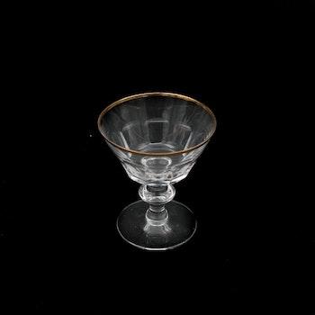 Likörglas med guldkant