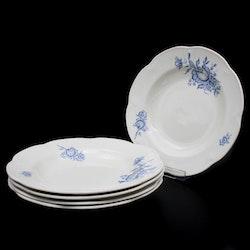 Matskål, blå blommor - Arabia