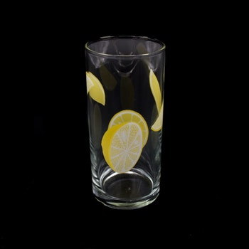 Retro saftglas - citroner