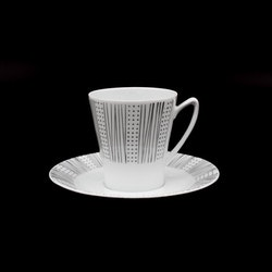Kaffekopp med fat - Skawonius, Upsala Ekeby Karlskrona, 5622