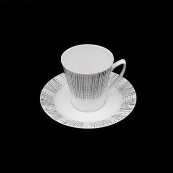 Kaffekopp med fat, Karla - Lars Erik Skawonius, Upsala Ekeby Karlskrona, 5622