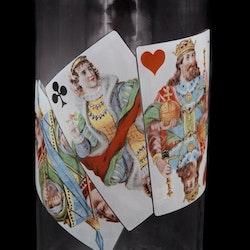 Karaff med spelkort