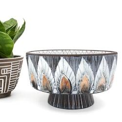 Skål på fot - A. Alingsås keramik