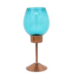 Ljuslykta - glas och koppar, Gnosjö Konstsmide