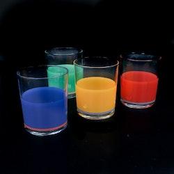 Saftglas, olika färger - Arcoroc, Frankrike