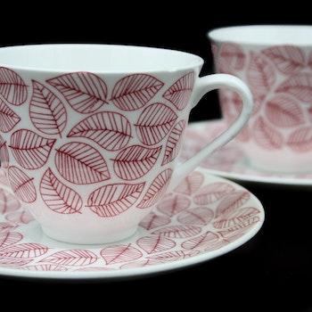 Kaffekopp med fat, Betula - Stig Lindberg, Gustavsberg