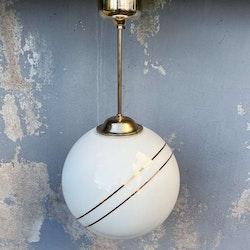 Taklampa, glob med guldinlägg