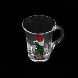 Glögg-glas med tomtar