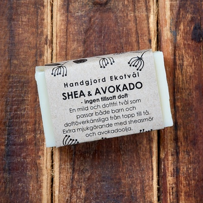 Ekotvål Shea & Avocado - Utan Tillsatt Doft - 40g
