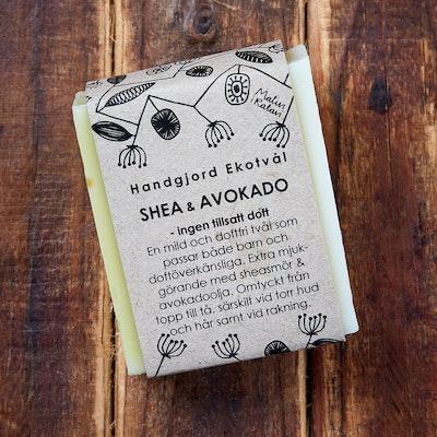 Ekotvål Shea & Avokado - Utan Tillsatt Doft - 110g
