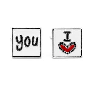 Manschettknappar I Love You