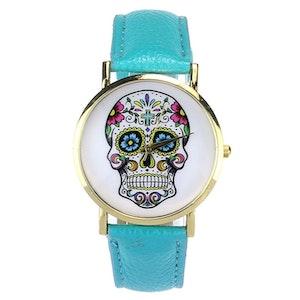 Klocka Skull Blå