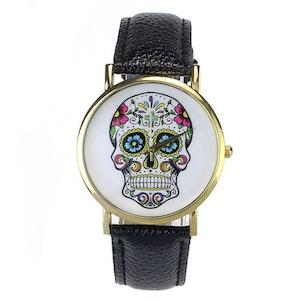 Klocka Skull Svart
