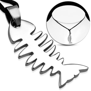 Halsband Rostfritt Fishbone
