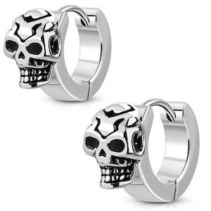 Örhängen Rostfria Skull