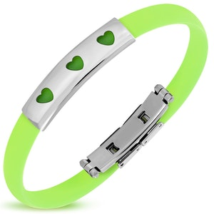 Armband Silikon/Rostfritt Grönt