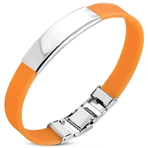Armband Silikon/Rostfritt Orange