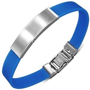 Armband Silikon/Rostfritt Blå