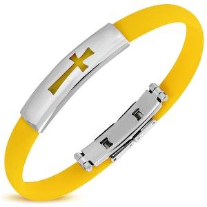 Armband Silikon/Rostfritt Gul