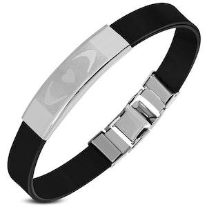 Armband Silikon/Rostfritt Svart