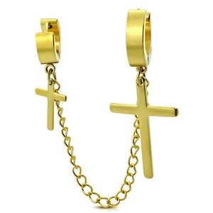 Örhängen Rostfria Dubbel Kors