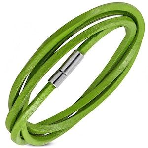 Armband Läder Grön