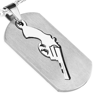 Halsband Rostfritt Revolver
