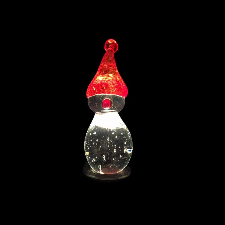 Här produkten upplyst med en ljussockel LED rund plast.