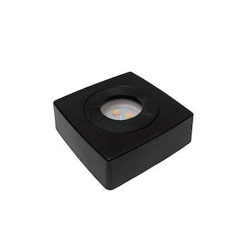 LJUSSOCKEL LED KVADRATISK PLAST