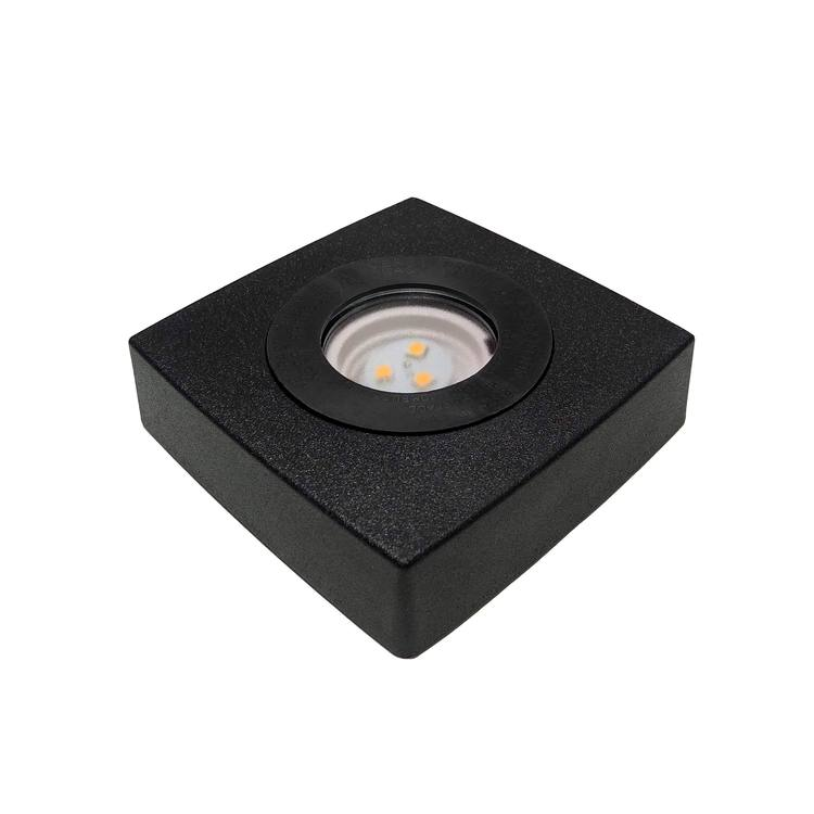 LJUSSOCKEL LED KVADRATISK PLAST (STOR)
