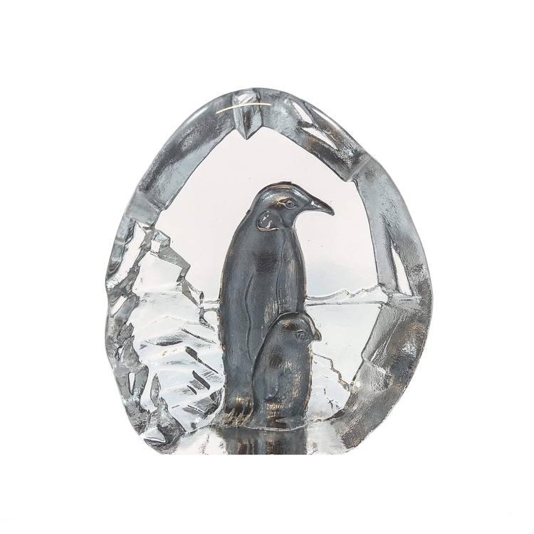 GLASBLOCK PINGVINER SILVER
