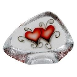 GLASBLOCK HEART CRYSTAL INK